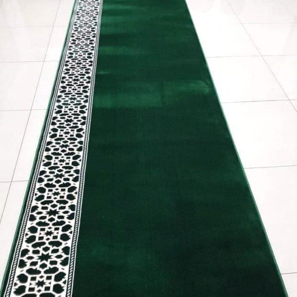 karpet turki mirac motif bintang hijau