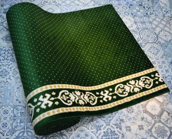 karpet masjid yafuz hijau motif bintik4