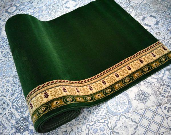 karpet masjid yafuz hijau polos