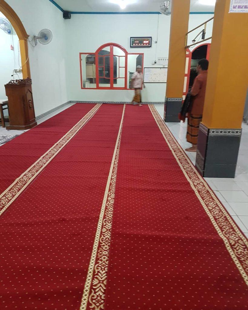 portofolio karpet masjid al ghonam Cileungsi