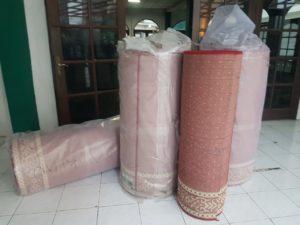 karpet masjid sampai di masjid
