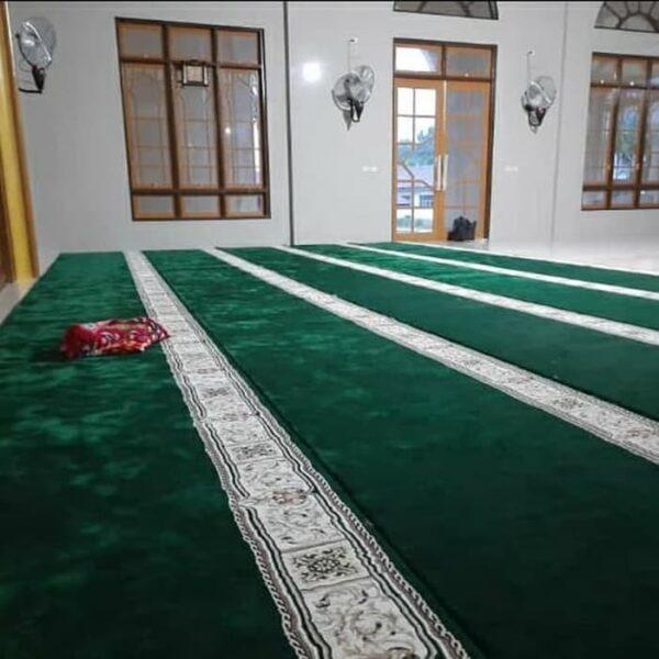 Karpet Masjid Masterpice Hijau Pasang