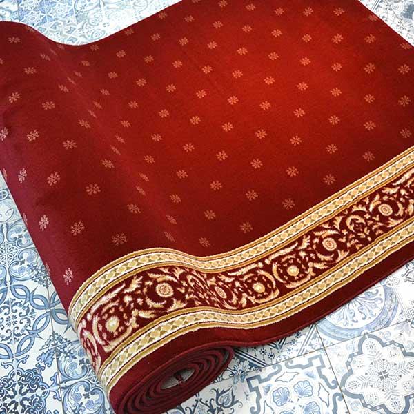 Karpet Masjid Soft Yaren Merah Bintik2