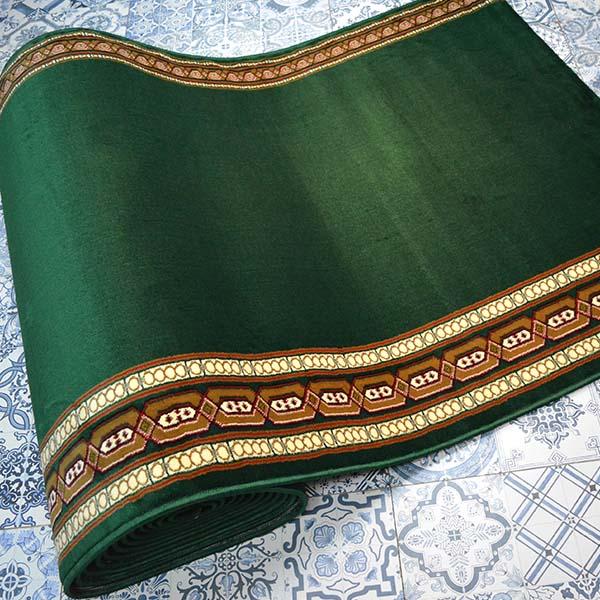karpet masjid istiqlal hijau motif2