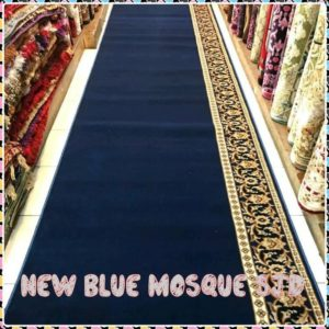 karpet masjid new blue mosque biru