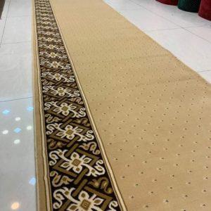 karpet masjid tajmahal coklat