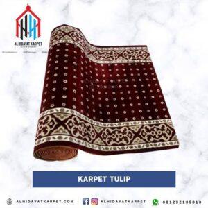 Karpet masjid turki Tulip merah bintik