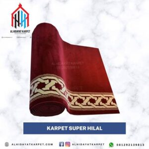 Karpet masjid turki super hilal merah