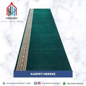 Karpet Hereke hijau bintik