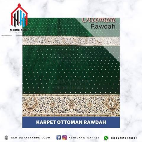 Karpet Ottoman Rawdah Hijau bintik