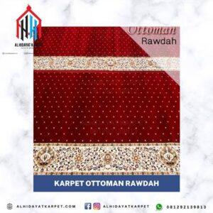 Karpet Ottoman Rawdah Merah bintik