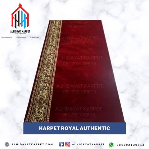 Karpet Royal Authentic Merah Polos