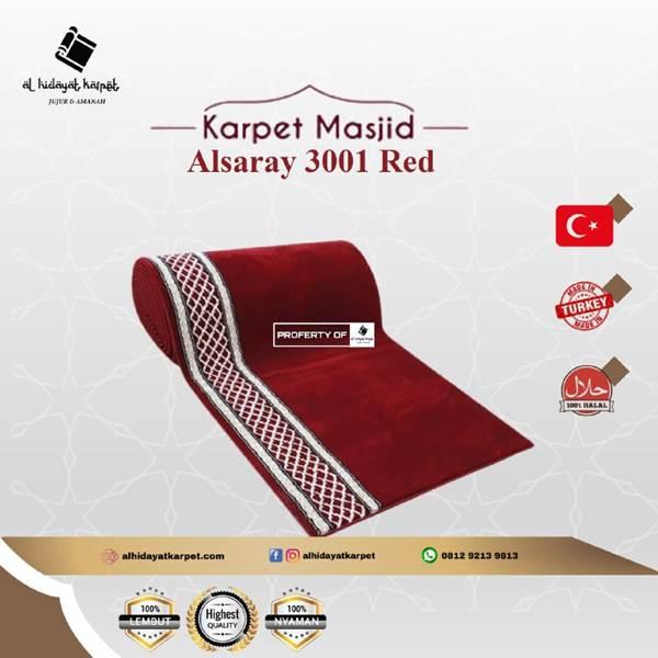 Karpet masjid Al Saray Merah Polos