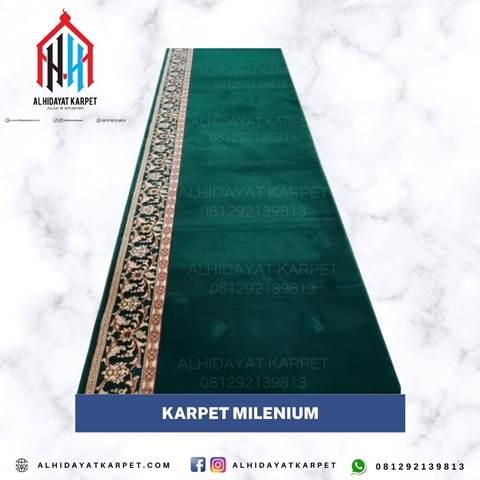 Karpet millenium hijau polos
