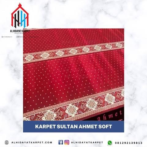 karpet masjid sultan ahmet soft merah bintik