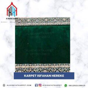 karpet masjid turki isfahan hereke hijau bintik