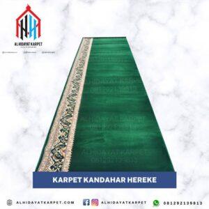 karpet masjid turki kandahar hereke hijau motif