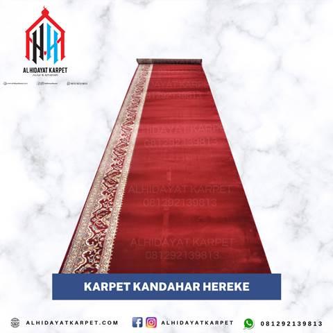 karpet masjid turki kandahar hereke merah motif