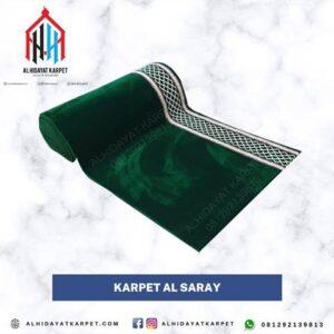 karpet turki al saray hijau polos
