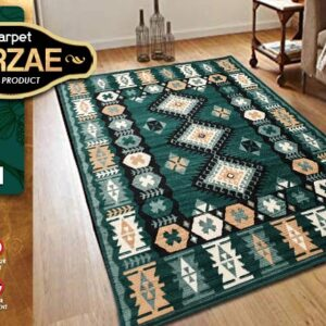 MIRZAE 07 GREEN 100X150 [NEW CLASSIC DESIGN]