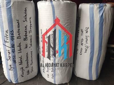 Karpet siap kirim ke Masjid Nurul Huda Batuawu Sulawesi Tenggara