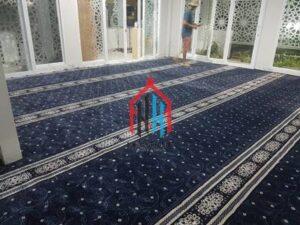 pemasangan karpet masjid Turki di Mushola El Fairuz Ciputat Tangsel7