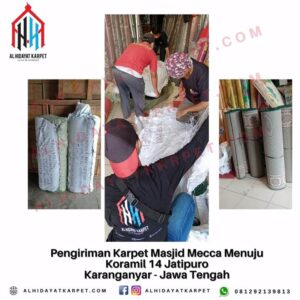 Pengiriman Karpet Masjid Mecca Menuju Koramil 14 Jatipuro Karanganyar - Jawa Tengah