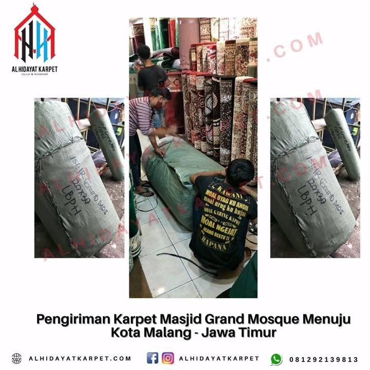 Pengiriman karpet masjid grand mosque menuju kota malang