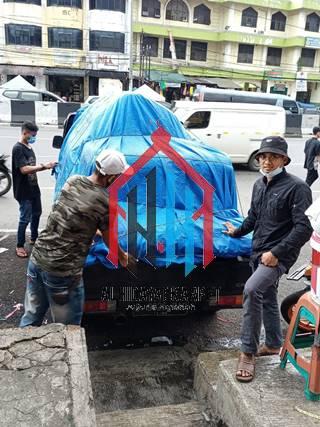pengiriman karpet masjid grand mosque ke Bandung2
