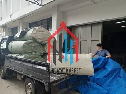 pengiriman karpet masjid grand mosque ke Bandung3