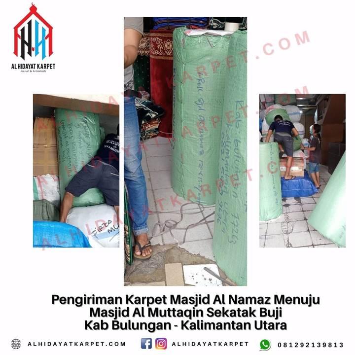 Pengiriman Karpet Masjid Al Namaz Menuju Masjid Al Muttaqin Sekatak Buji Kab Bulungan - Kalimantan Utara