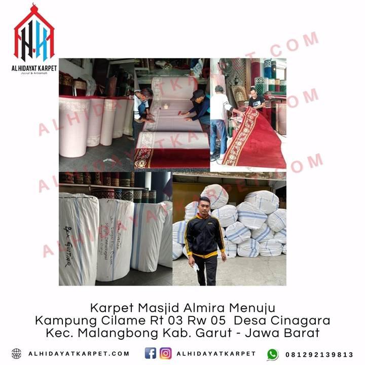 Pengiriman Karpet Masjid Al Namaz Menuju Masjid Darunnajah Kubu Raya Kec. Pontianak Tenggara Pontianak - Kalimantan Barat