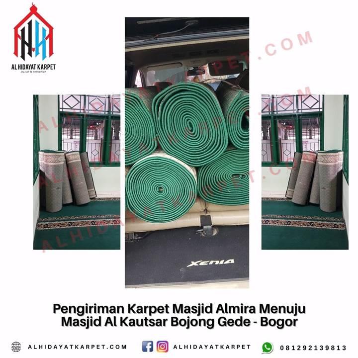 Pengiriman Karpet Masjid Almira Menuju Masjid Al Kautsar Bojong Gede - Bogor