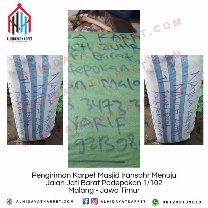 Pengiriman Karpet Masjid Iransahr Menuju Jalan Jati Barat Padepokan 1_102 Malang - Jawa Timur