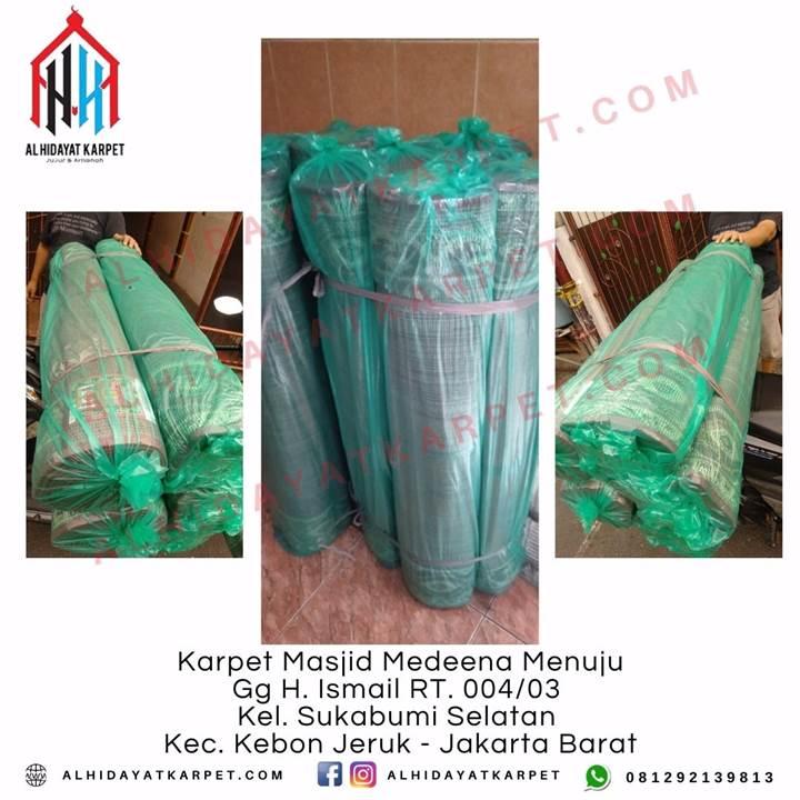 Pengiriman Karpet Masjid Medeena Menuju gg H. Ismail RT. 004_03 Kel. Sukabumi selatan kecamatan kebon jeruk jakarta Barat