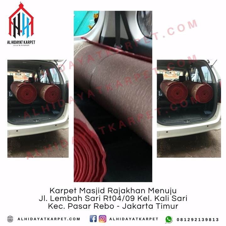 Pengiriman Karpet Masjid Rajakhan Menuju Jl. Lembah Sari Rt04_09 Kel. Kali Sari Kec. Pasar Rebo - Jakarta Timur