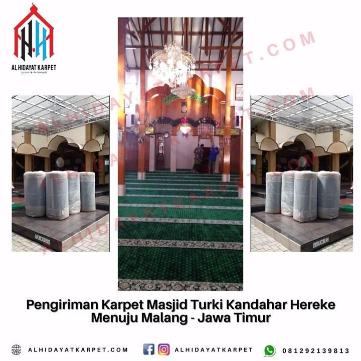 Pengiriman Karpet Masjid Turki Kandahar Hereke Menuju Malang - Jawa Timur