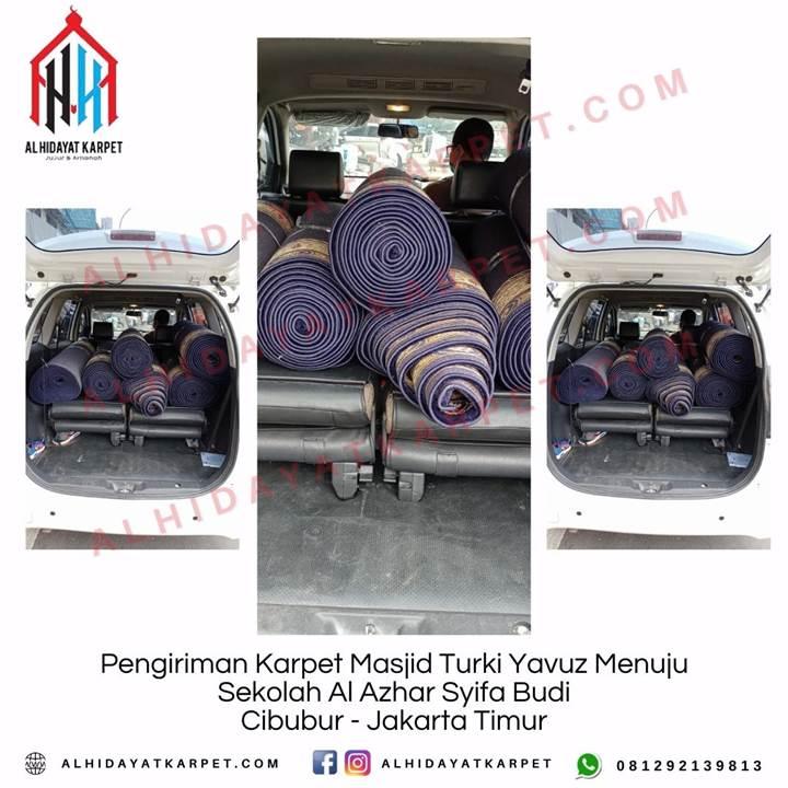 Pengiriman Karpet Masjid Turki Yavuz Menuju Sekolah Al Azhar Syifa Budi Cibubur - Jakarta Timur