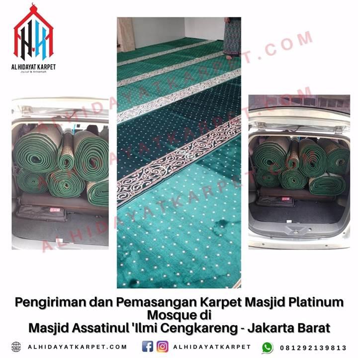 Pengiriman dan Pemasangan Karpet Masjid Platinum Mosque di Masjid Assatinul 'Ilmi Cengkareng - Jakarta Barat
