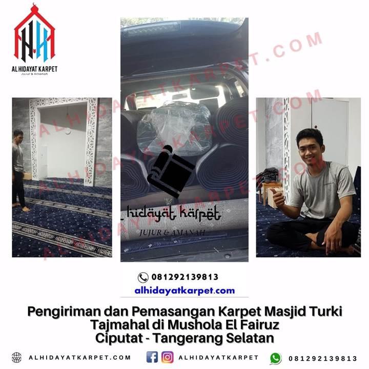 Pengiriman dan Pemasangan Karpet Masjid Turki Tajmahal di Mushola El Fairuz Ciputat - Tangerang Selatan