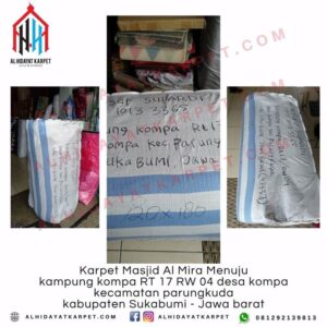 pengiriman karpet masjid almira menuju kampung kompa sukabumi jabar
