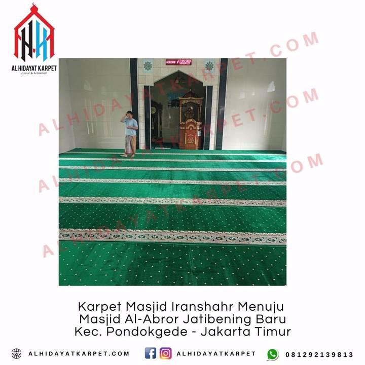 Pemasangan Karpet Masjid Iranshahr Menuju Masjid Al-Abror Jatibening Baru Kec. Pondokgede - Jakarta Timur