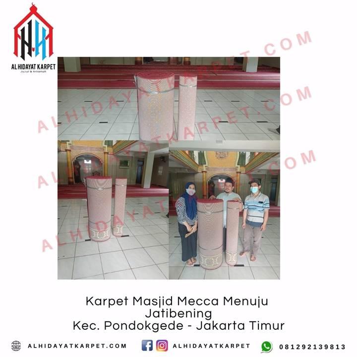 Pemasangan Karpet Masjid Mecca Menuju Jatibening Kec. Pondokgede - Jakarta Timur