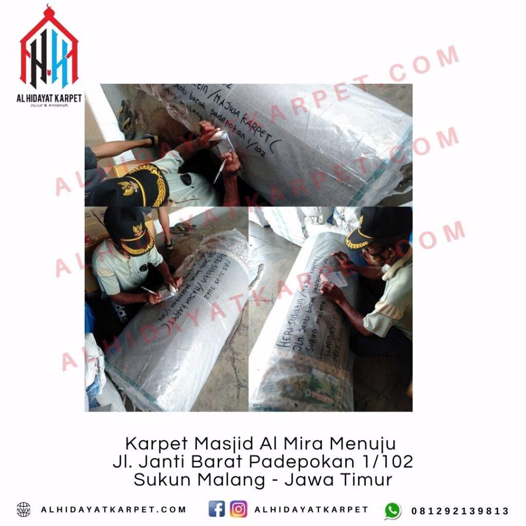 Pengiriman Karpet Masjid Al Mira Menuju Jl. Janti Barat Padepokan 1_102 Sukun Malang - Jawa Timur