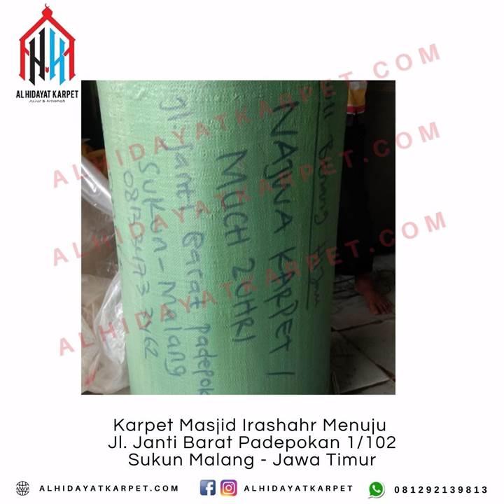 Pengiriman Karpet Masjid Irashahr Menuju Jl. Janti Barat Padepokan 1_102 Sukun Malang - Jawa Timur