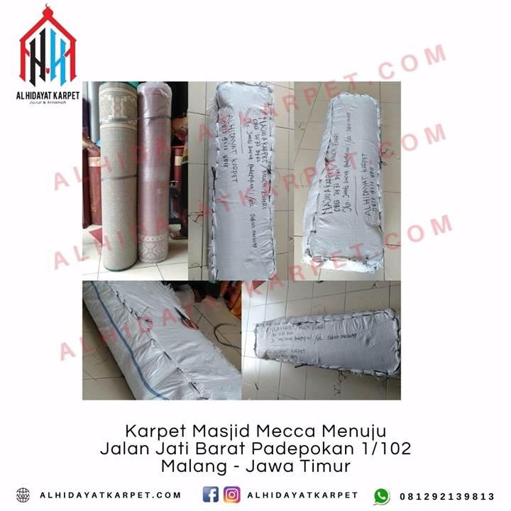 Pengiriman Karpet Masjid Karpet Masjid Mecca Menuju Jalan Jati Barat Padepokan 1_102 Malang - Jawa Timur