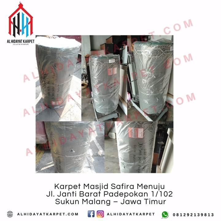 Pengiriman Karpet Masjid Karpet Masjid Safira Menuju Jl. Janti Barat Padepokan 1102 Sukun Malang – Jawa Timur