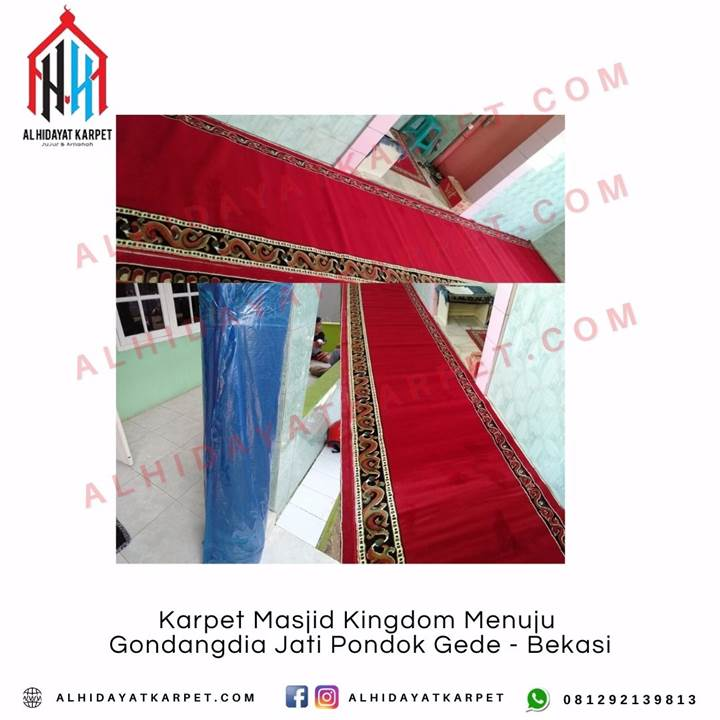 Pengiriman Karpet Masjid Kingdom Menuju Gondangdia Jati Pondok Gede - Bekasi