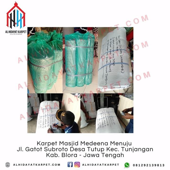 Pengiriman Karpet Masjid Medeena Menuju Jl. Gatot Subroto Desa Tutup Kec. Tunjangan Kab. Blora - Jawa Tengah