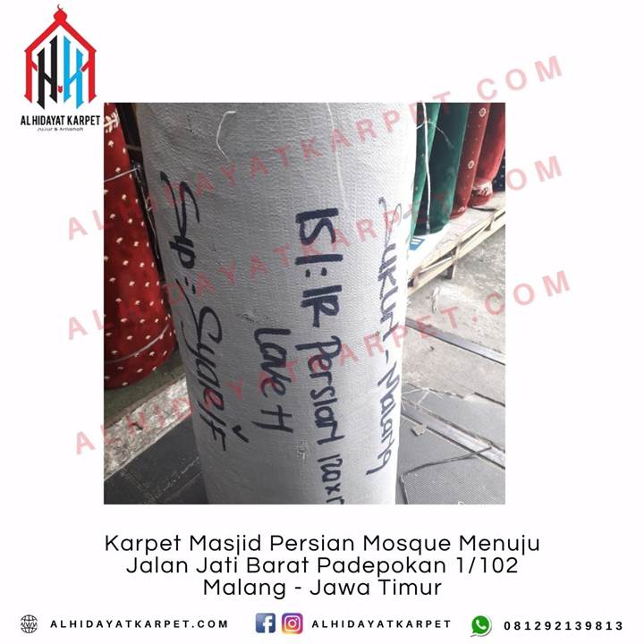 Pengiriman Karpet Masjid Persian Mosque Menuju Jalan Jati Barat Padepokan 1_102 Malang - Jawa Timur